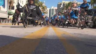 Wounded warriors bike 20 miles Thursday in South Florida