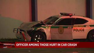 Miami-Dade County police officer hurt after crash