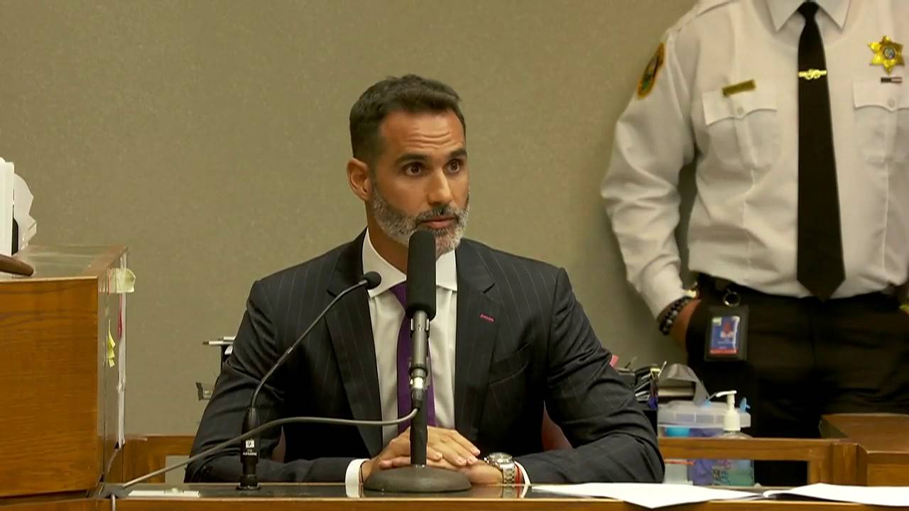 Lucas Del Fino testifying in stand your ground hearing