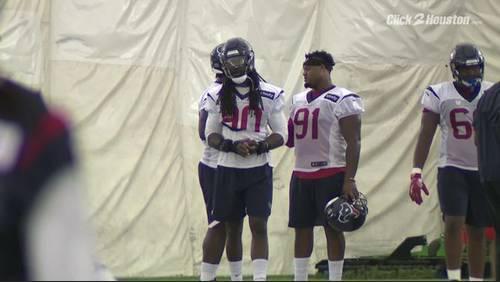 Welcome sight for Texans: Jadeveon Clowney returns to practice field