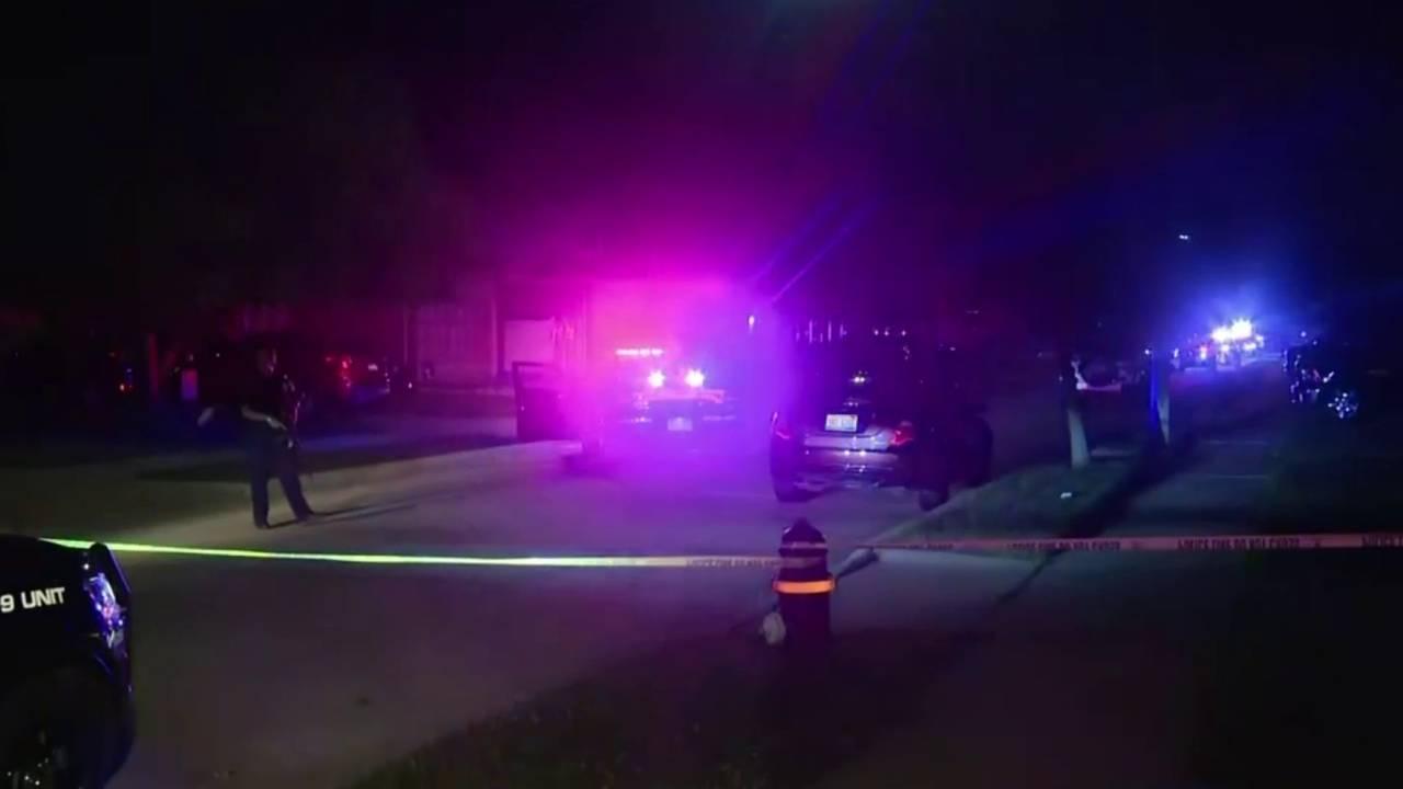 2 shot barricaded gunman scene