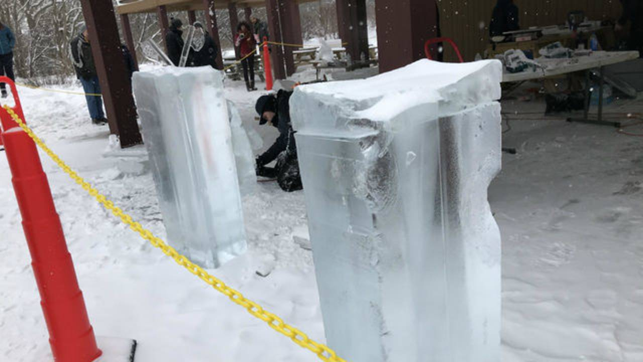 Ice Carving Festival cubes