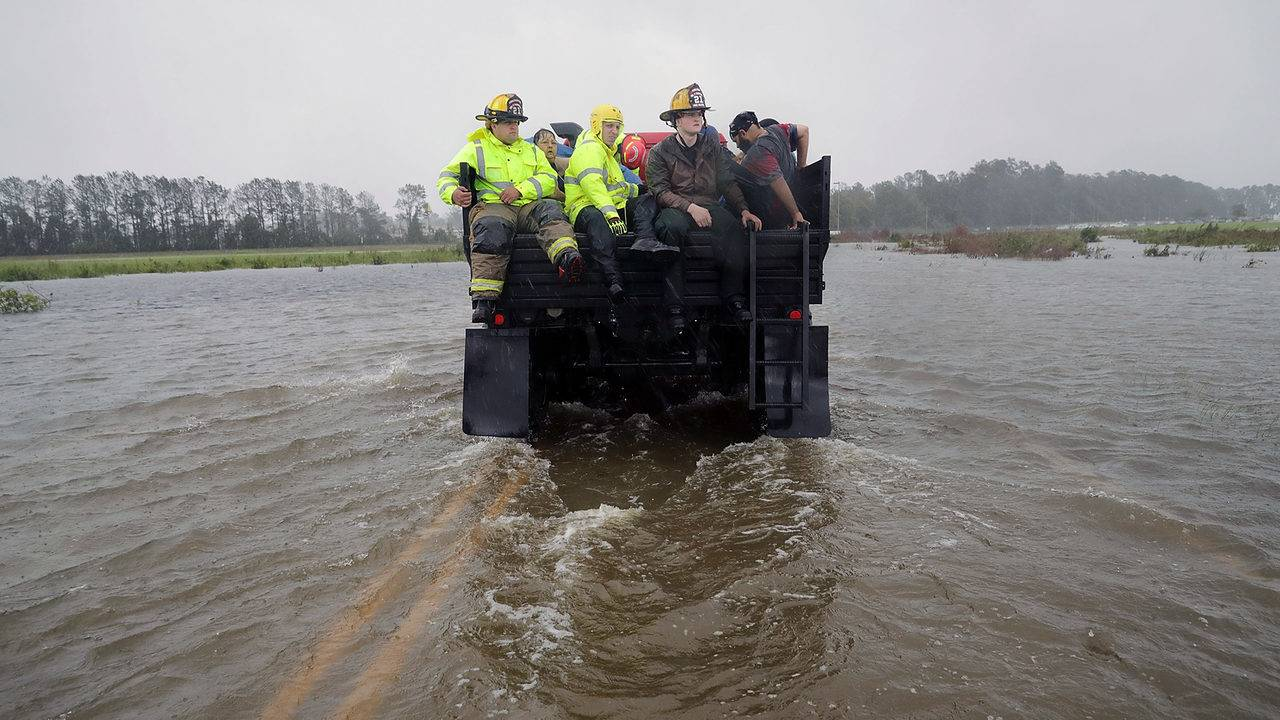 This is what it looks like in North Carolina where Florence has hit