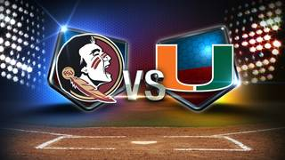 Hurricanes deny Florida State sweep, Martin all-time wins record