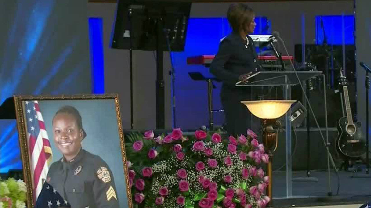Family, friends, officers come together to say goodbye to Lt. Debra Clayton