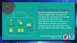 Hurricane Preparedness Week: Assemble Disaster Supplies