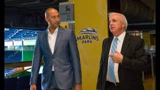 Gimenez meets with Jeter at Marlins Park