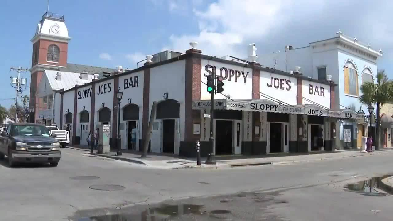 Sloppy Joe's Bar after Hurricane Irma, September 2017