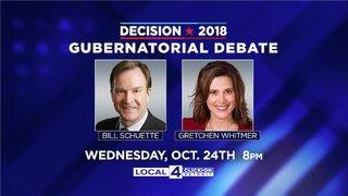 Michigan election: Schuette, Whitmer will debate in Detroit on Oct. 24