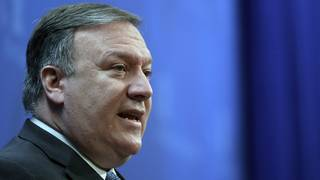 U.S. Secretary of State Mike Pompeo speaks in Downtown Detroit