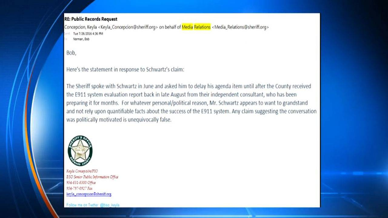 bso-statement-on-911 dispatch system