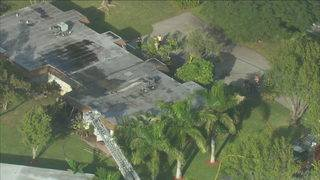 Roof partially collapses after fire breaks out in Deerfield Beach apartment
