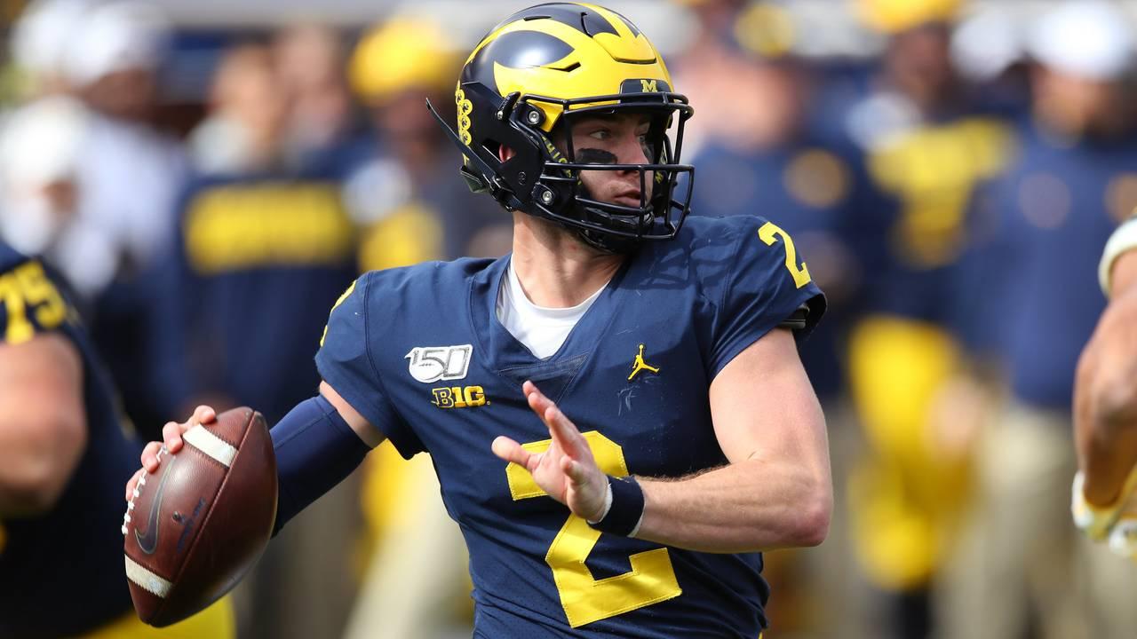 Shea Patterson pass Michigan football vs Iowa 2019
