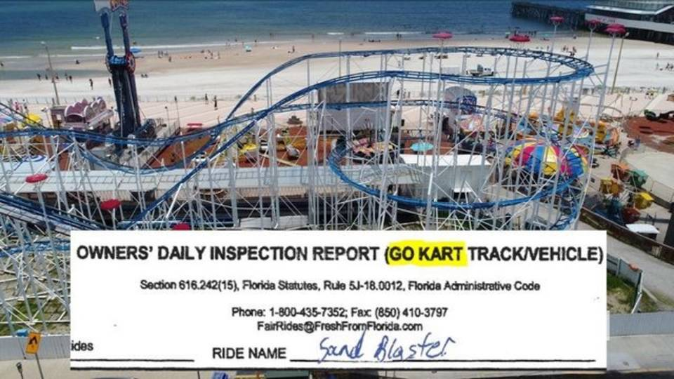 Roller coaster go kart