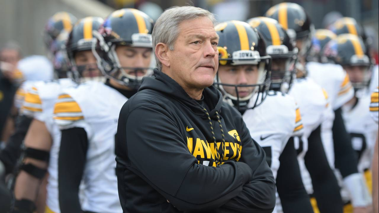 Head coach Kirk Ferentz Iowa football 2018