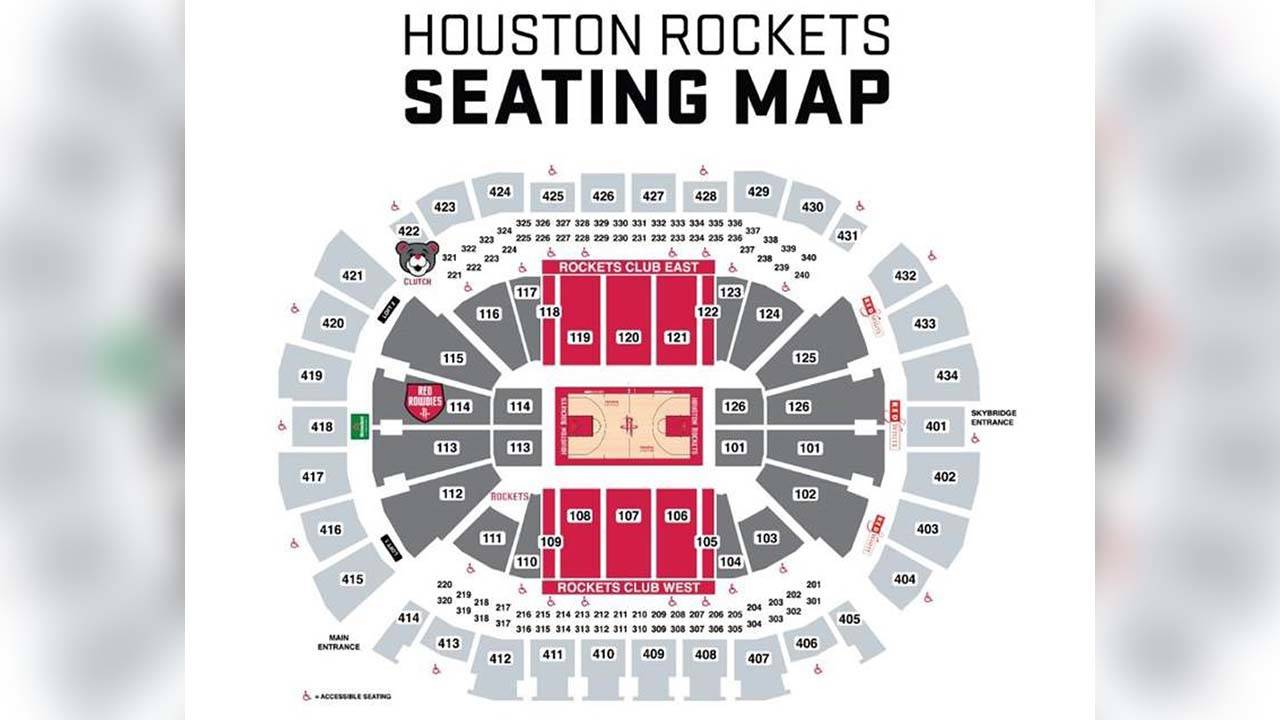 Rockets seating chart