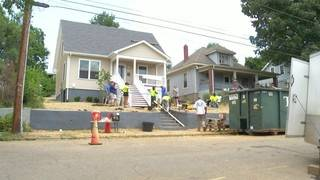 10 News team volunteers at 'Home for Good' site