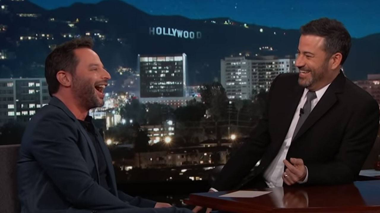 2c0319c5fee Nick Kroll Accidentally Splits His Pants on  Jimmy Kimmel Live   Watch