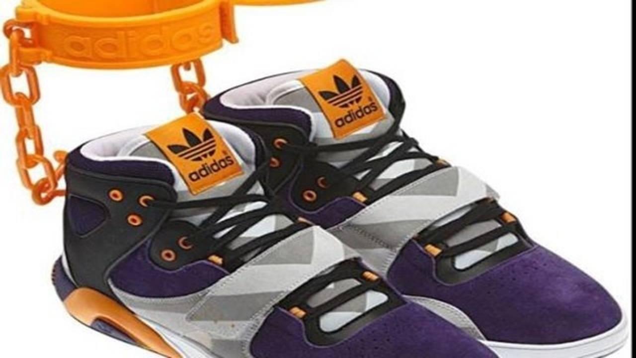 new styles c610b b5aa8 New adidas shackle sneakers Slavery symbolism