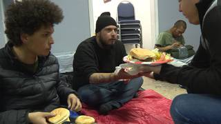 Local church giving homeless shelter from frigid weather
