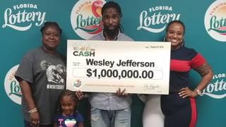Jacksonville man wins $1 million from scratch-off lottery ticket