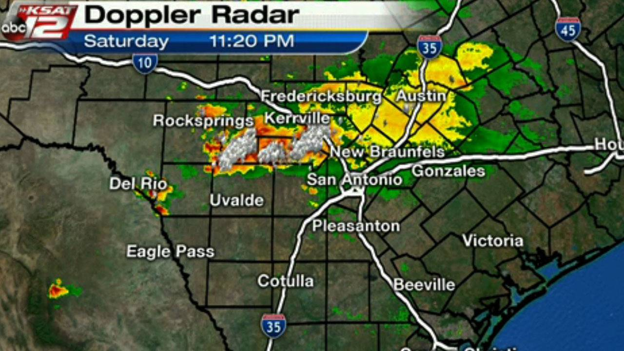 San Antonio Weather Map Radar.Ksat Weather Strong Storms Impact San Antonio Hill Country