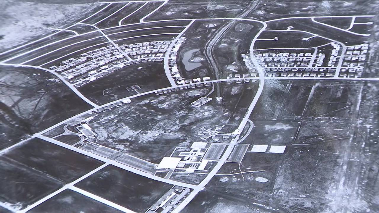 Aerial photo of Clear Lake from 1960s