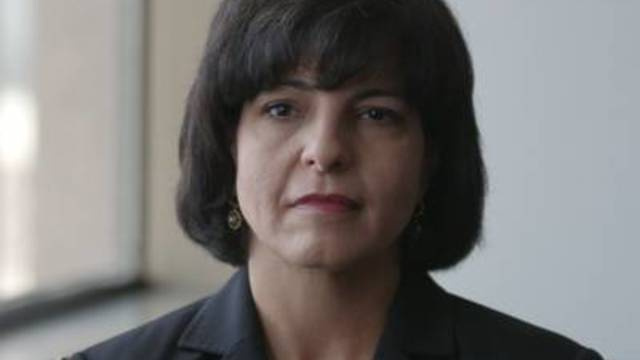 Texas Railroad Commission Chairman Christi Craddick speaks to a reporter on August 14, 2018.