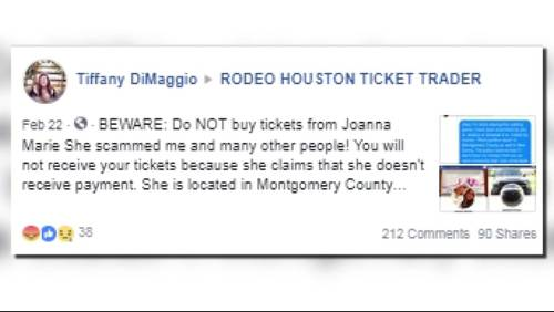 A warning for those buying Houston Rodeo tickets through social media