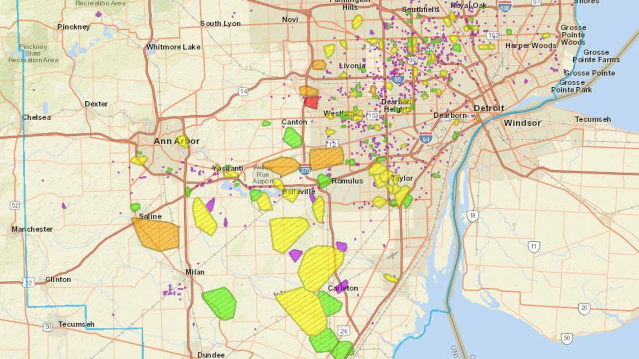 DTE Energy outage map: Thousands of Metro Detroiters without...