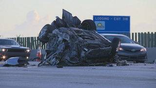 Fort Lauderdale man dead after rollover wreck on Interstate 95