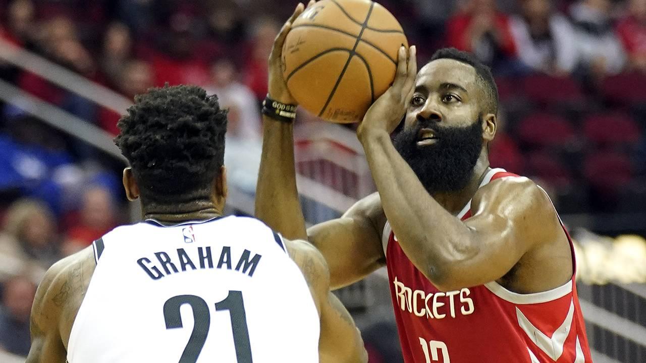 8df062e94173 James Harden drops 58 points in Rockets  OT loss to Nets