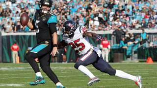 Jaguars thump Texans 45-7 for 1st playoff berth since 2007