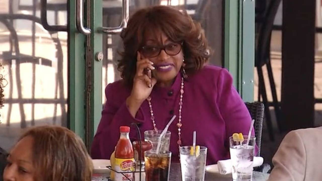 Corrine Brown at lunch at Landing