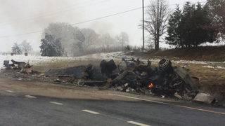 New traffic pattern on Route 220 following tanker fire