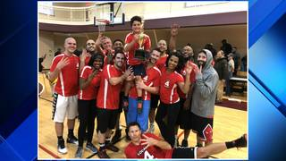 Local 4 defends title with win over Fox 2 during annual charity basketball game