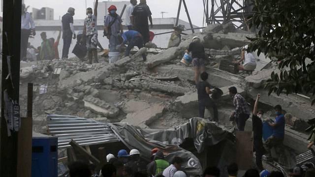 EARTHQUAKE MEXICO RUBBLE