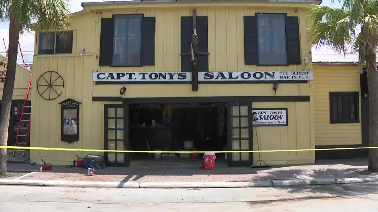 Capt. Tony's Saloon after Hurricane Irma