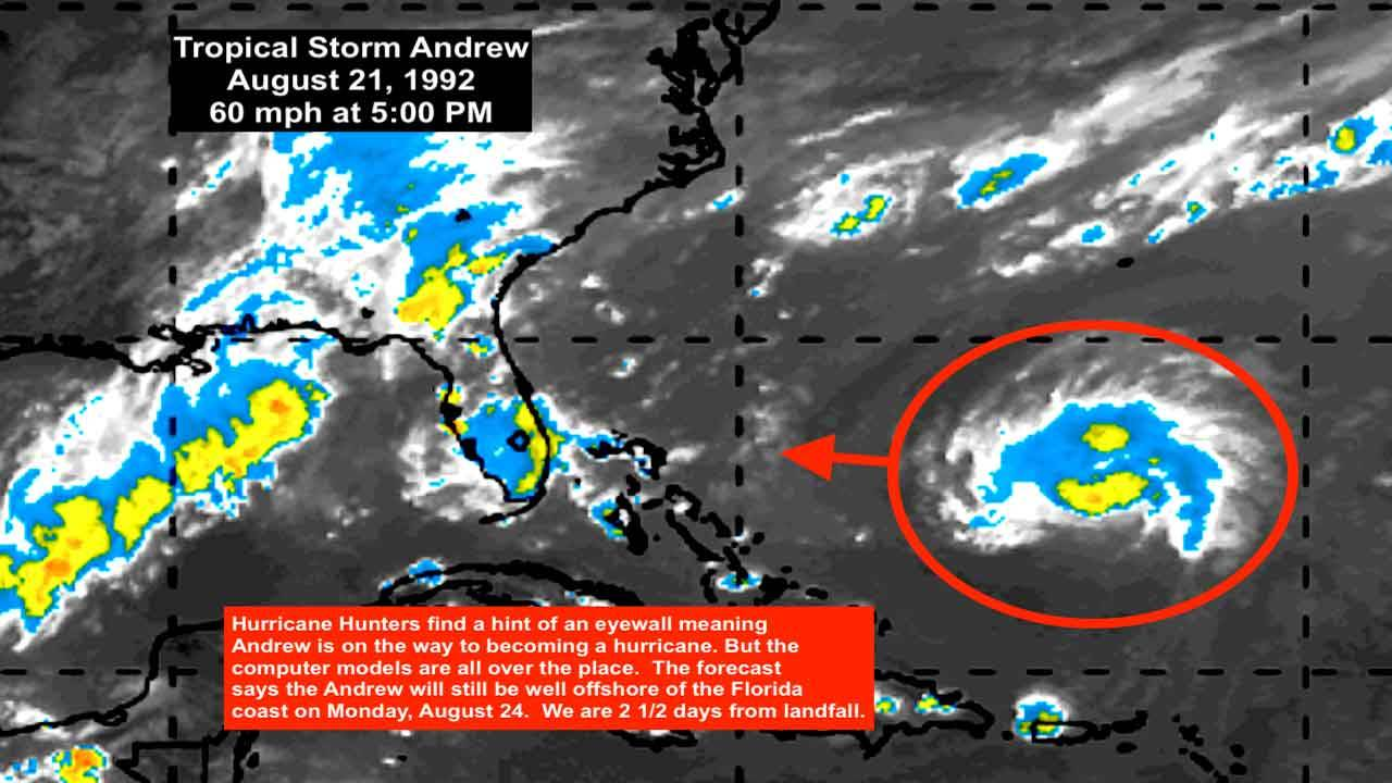 Hurricane Andrew, Aug. 21, 2019