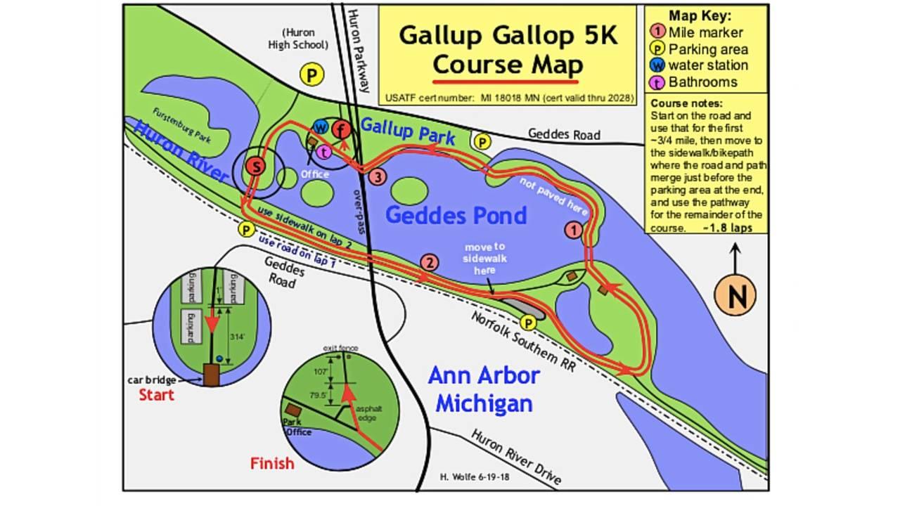 Gallup Gallop course - white
