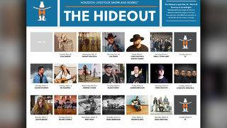 Houston Rodeo's The Hideout lineup released