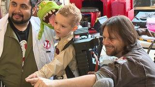 5-year-old sees Ghostbusters dreams come true