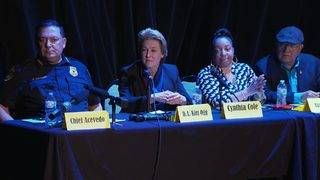Acevedo at town hall: No-knock warrants to cease, he won't step down