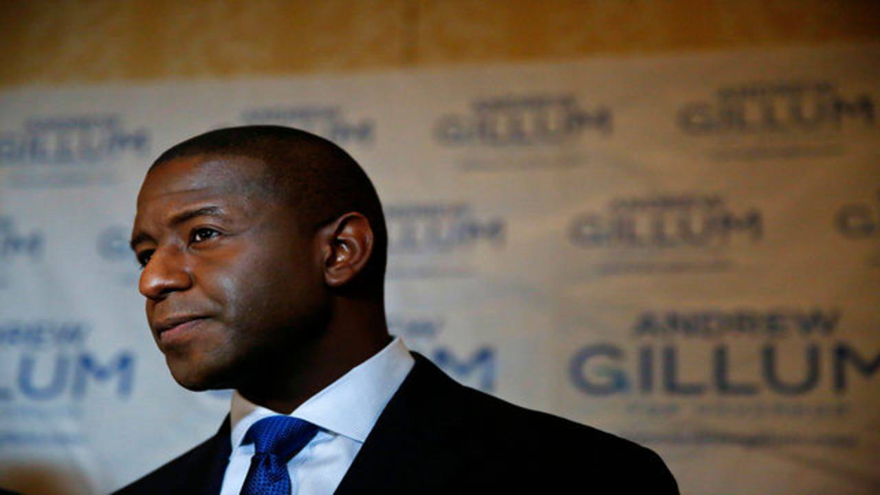 Andrew Gillum speaks to media after final Democratic gubernatorial debate in Palm Beach Gardens