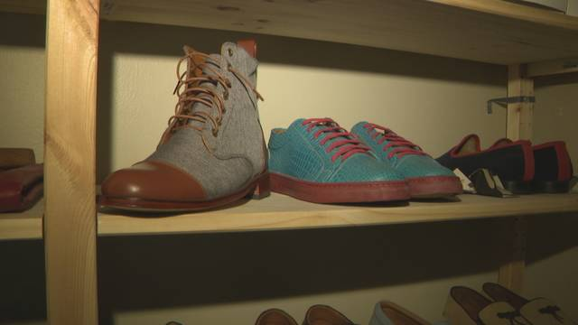 Caballero Wear shoe on display in Washington D.C.