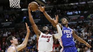 Heat eliminated from playoffs despite win over 76ers
