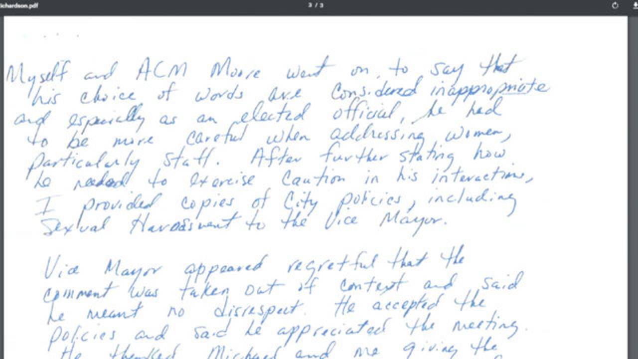 Letter showing inappropriate remark by Maxwell Chambers