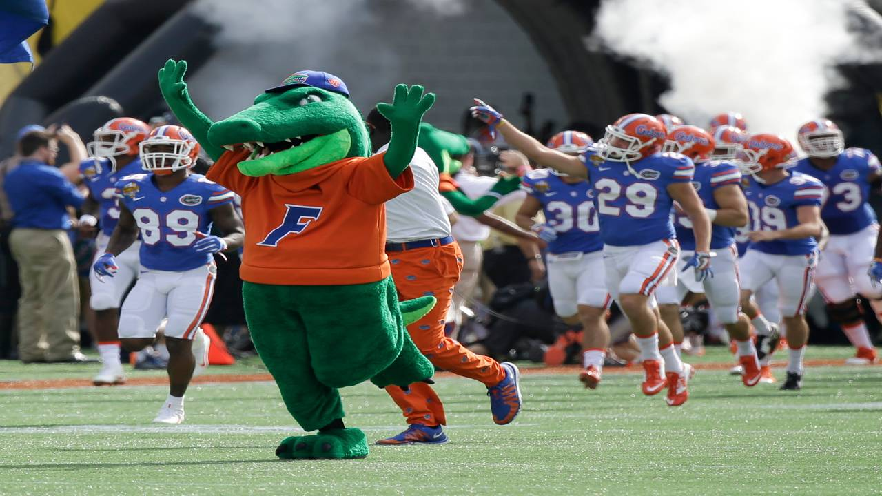 Albert the Alligator, Florida Gators mascot, at Citrus Bowl in 2016