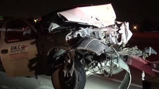 Calf killed in crash, 3 injured in 2-vehicle pileup