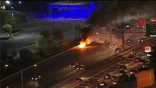 Car fires cause traffic delays on I-95 in Miami-Dade, Pembroke Road in Broward